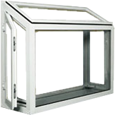 Garden window frame