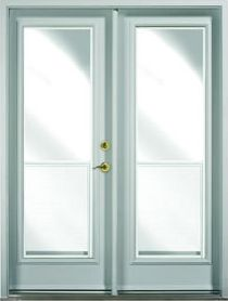 Double garden doors with windows